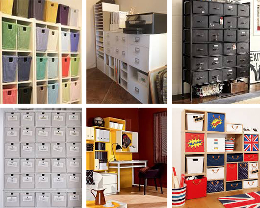There are lots of options for office storage.