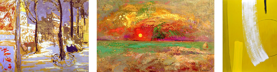 'Boulevard-of-Batignolles', Edouard Vuillard, 'Sunset', Odilon Redon and an abstract by Wilhelmina Barns-Graham